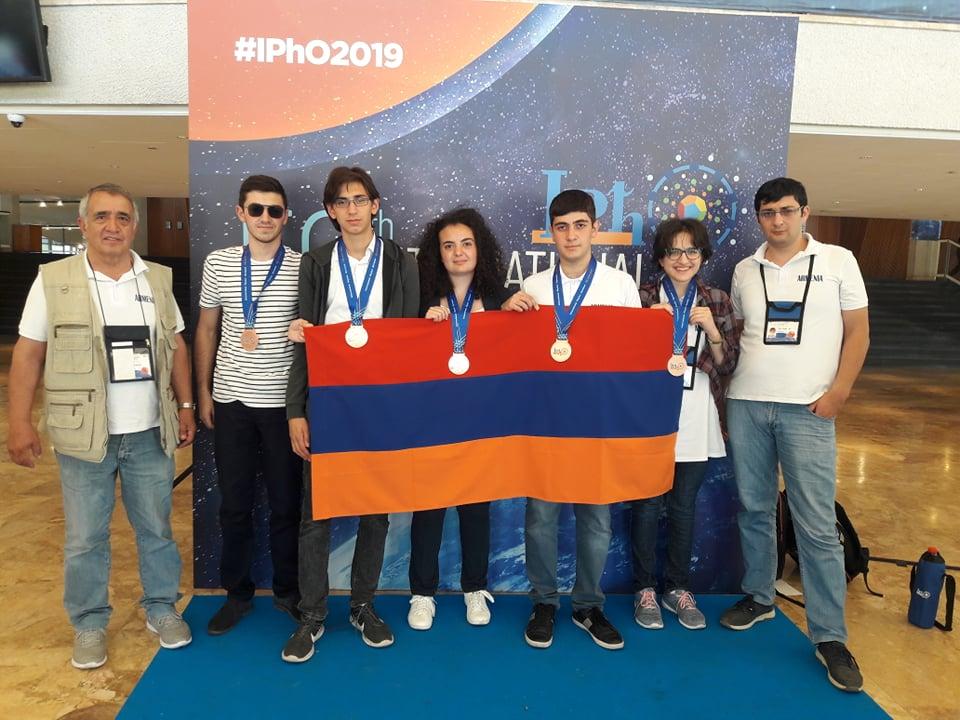 5 բրոնզե մեդալ` «Ֆիզիկա» առարկայի դպրոցականների միջազգային օլիմպիադայում